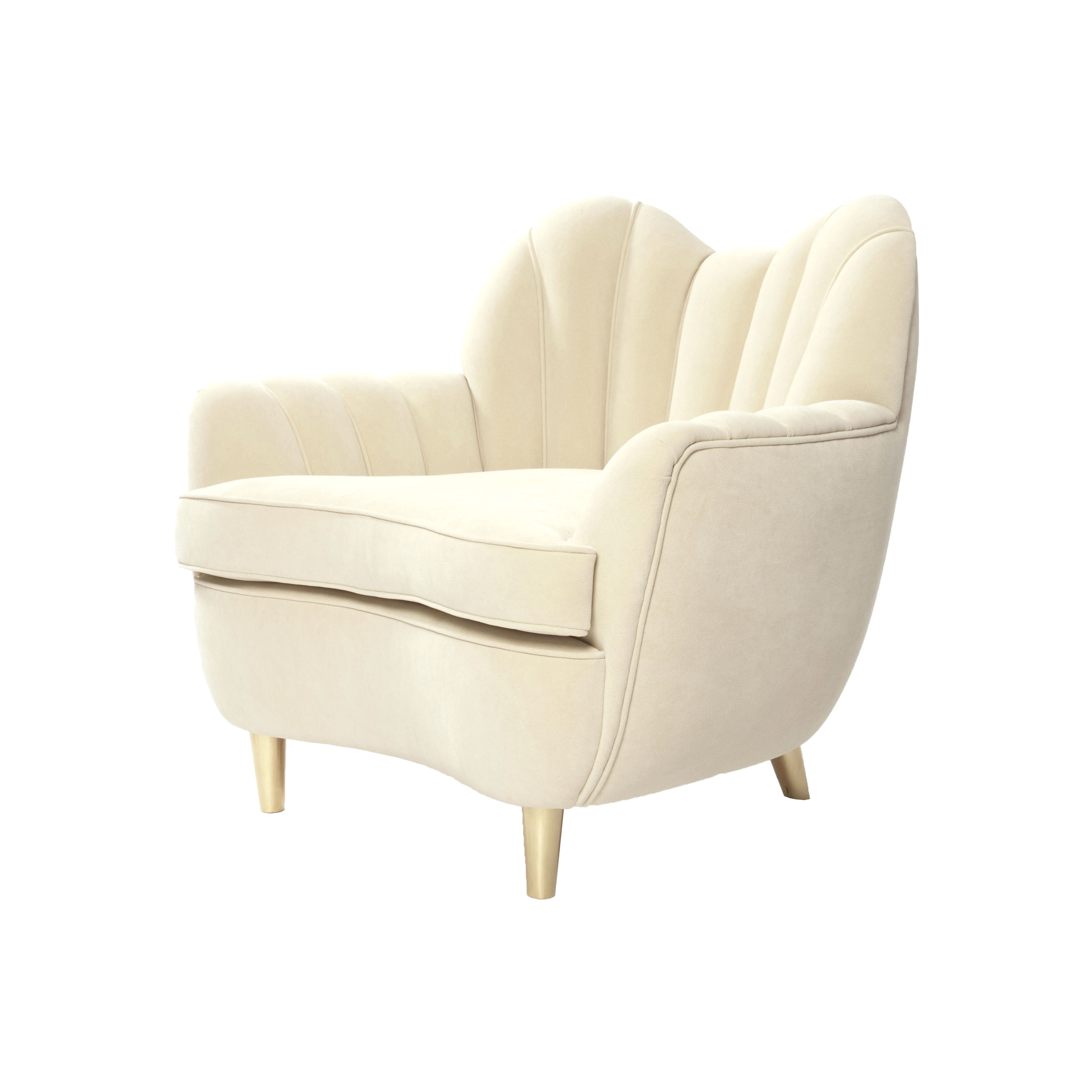 Modern armchair oscar les trois gar ons for Contemporary armchair