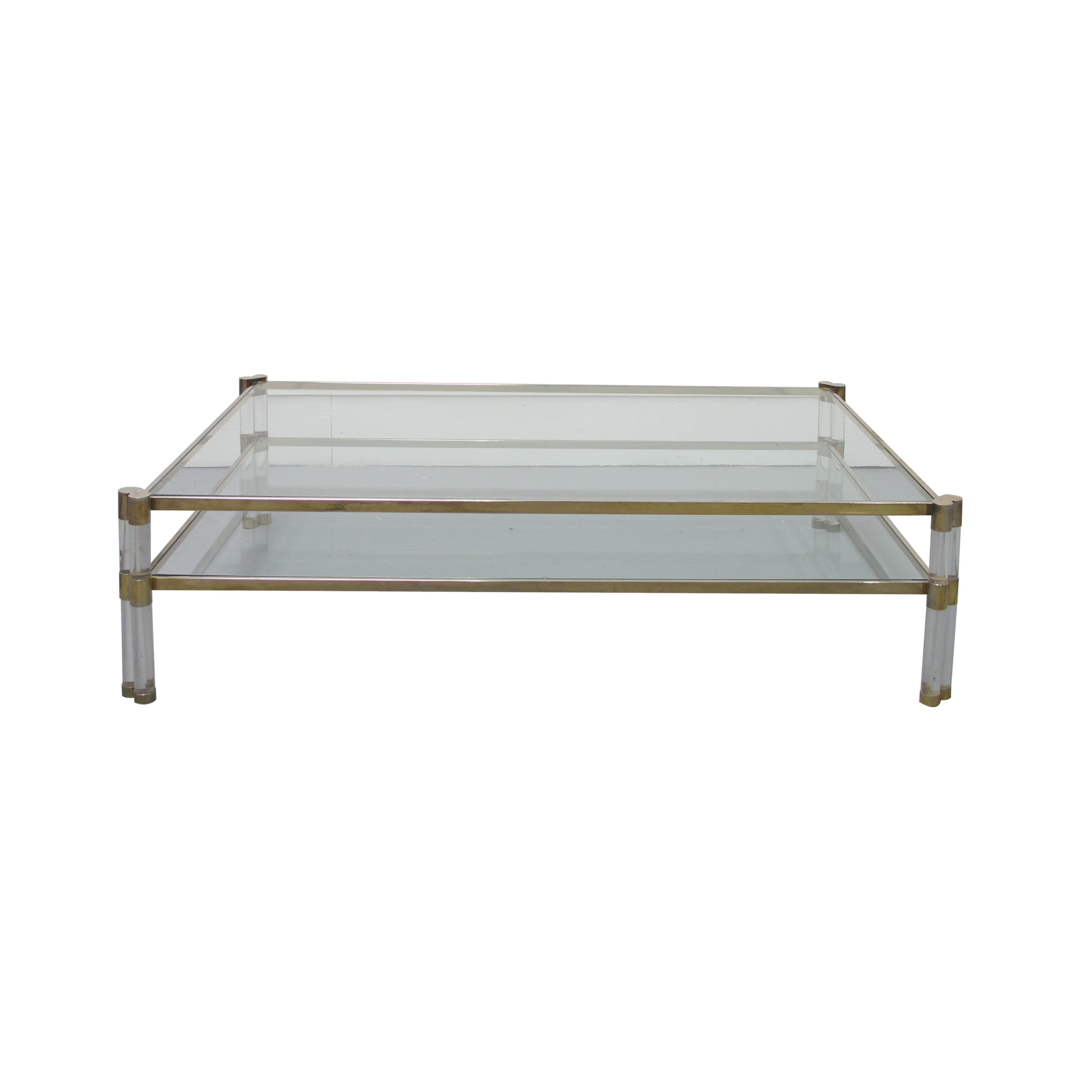 Perspex And Glass Coffee Table Les Trois Gar Ons