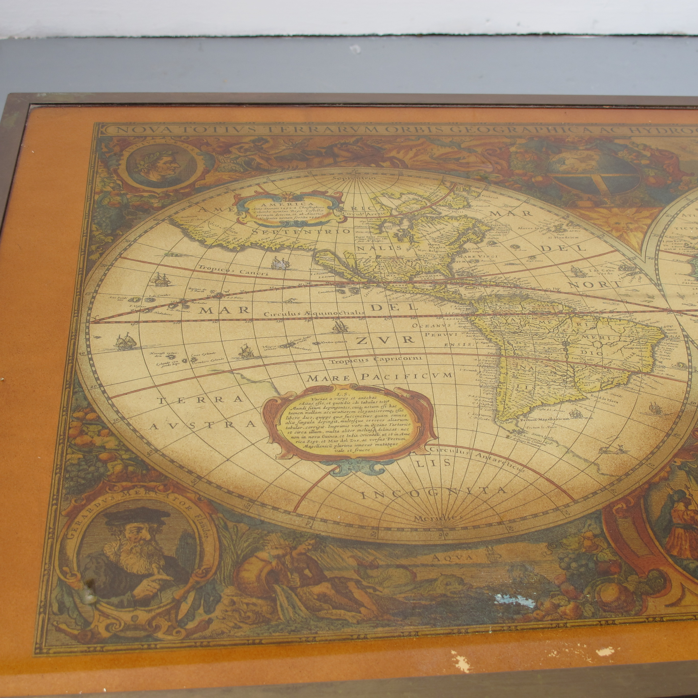 Antique World Map Coffee Table Les Trois Garons