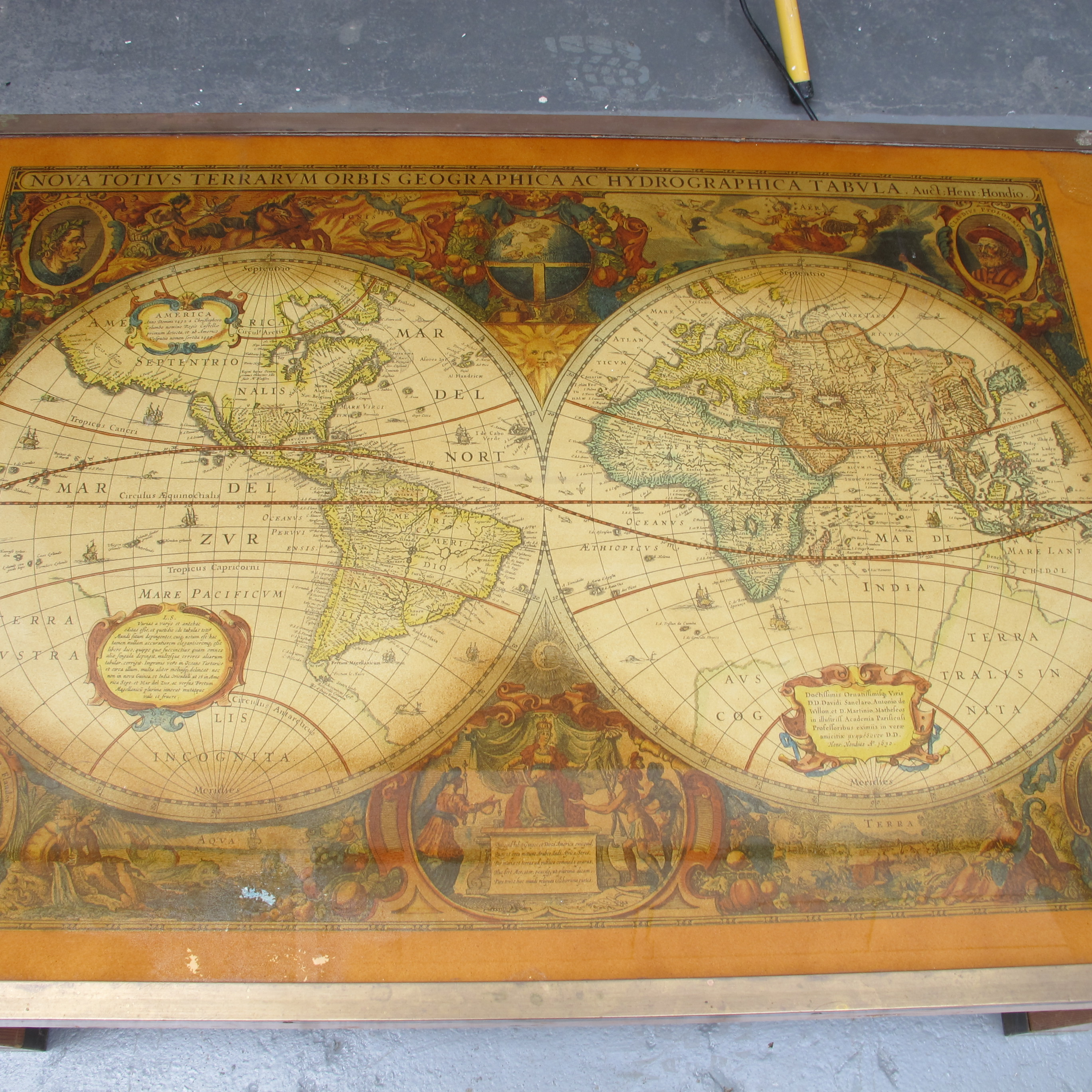 Antique World Map Coffee Table