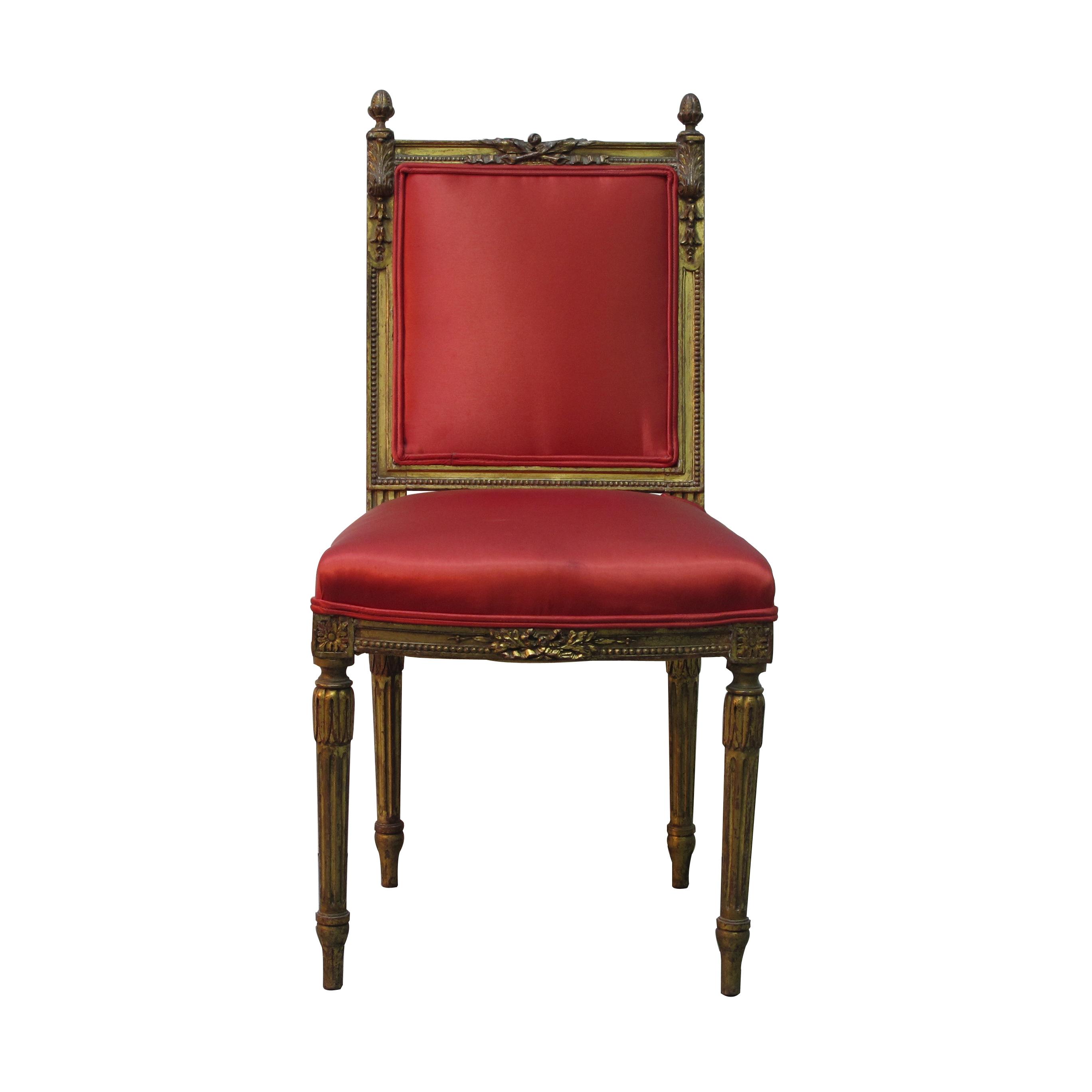 Gilded boudoir chair les trois gar ons for Boudoir stoel