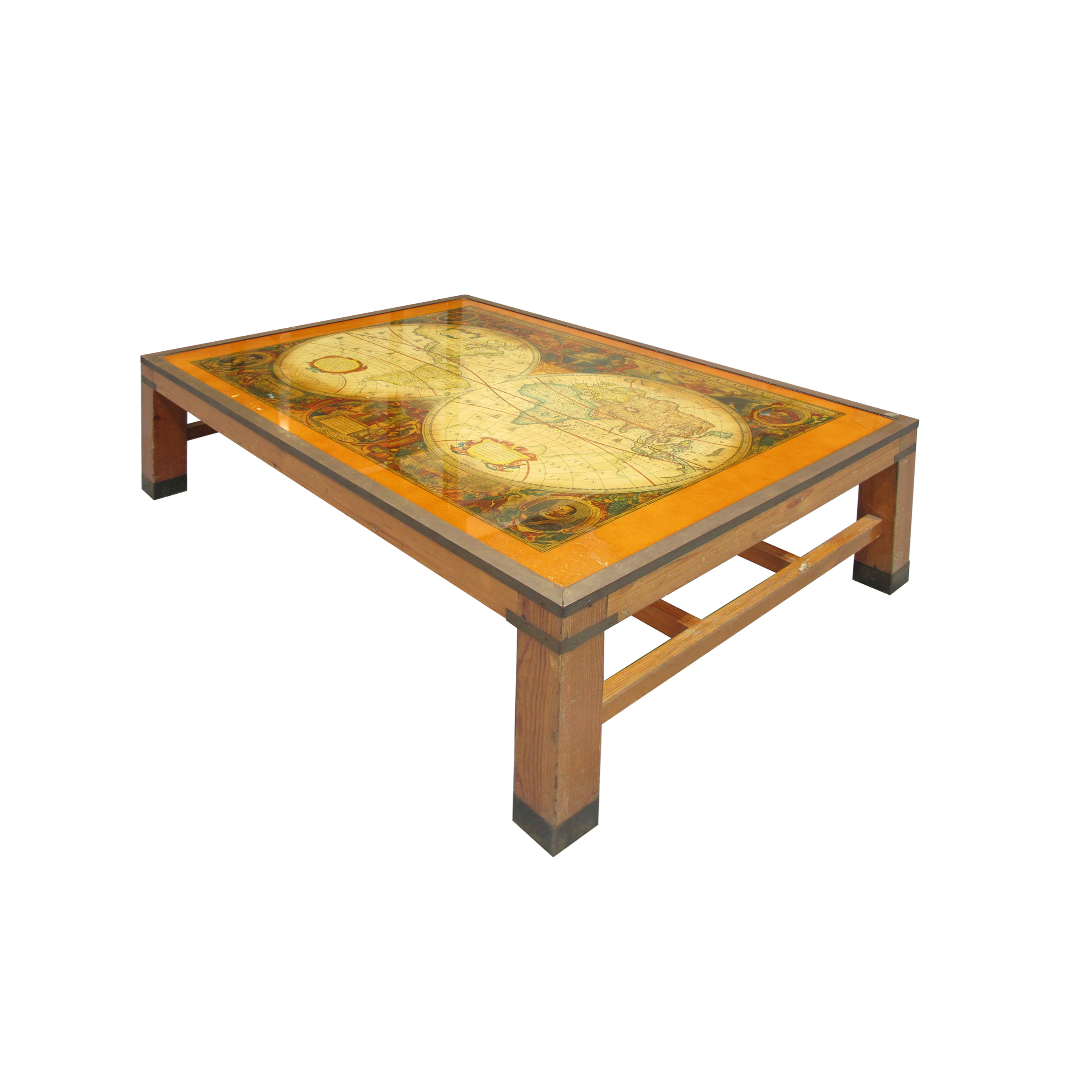 Antique World Map Coffee Table Les Trois Gar Ons