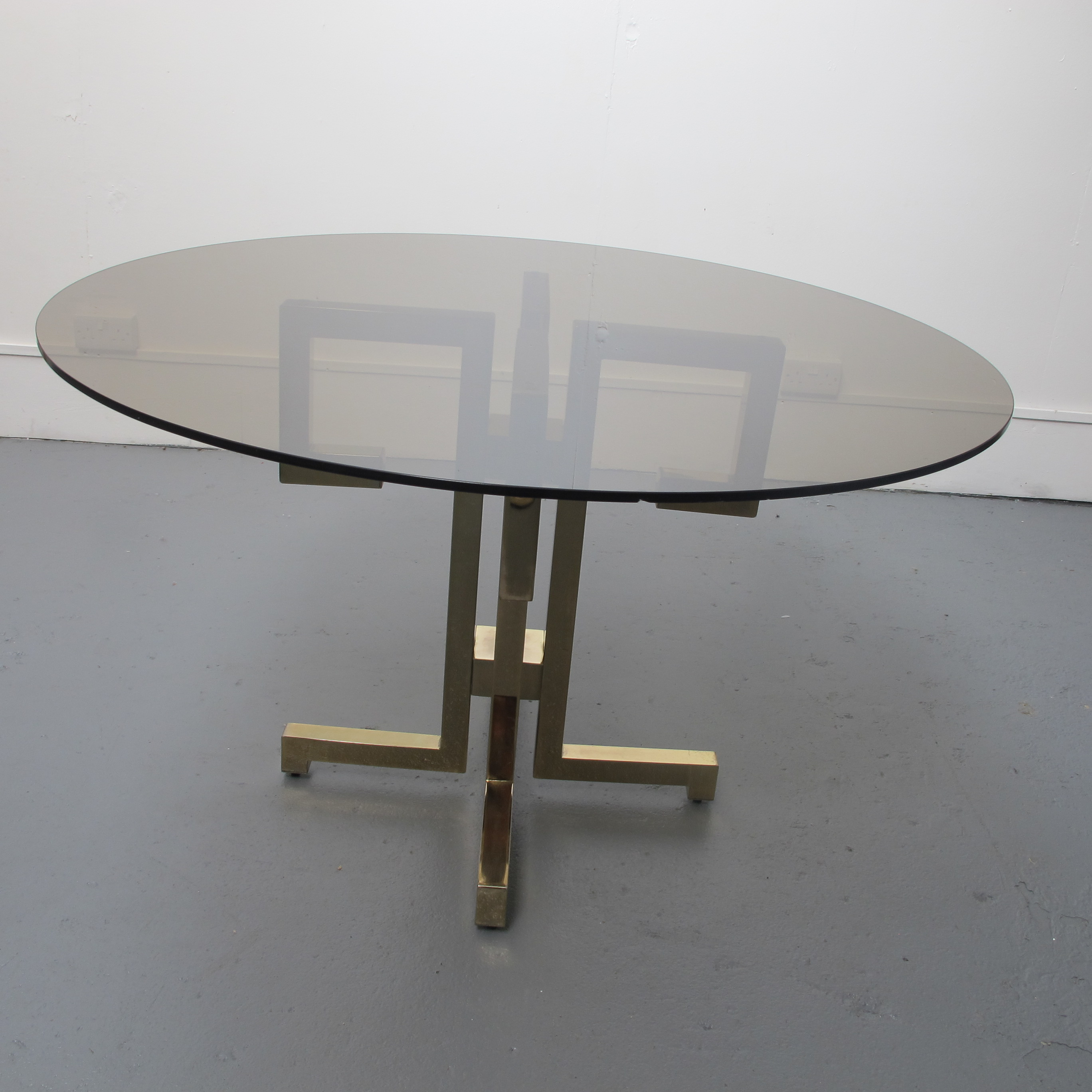 Vintage Round Glass Dining Table Les Trois Gar Ons