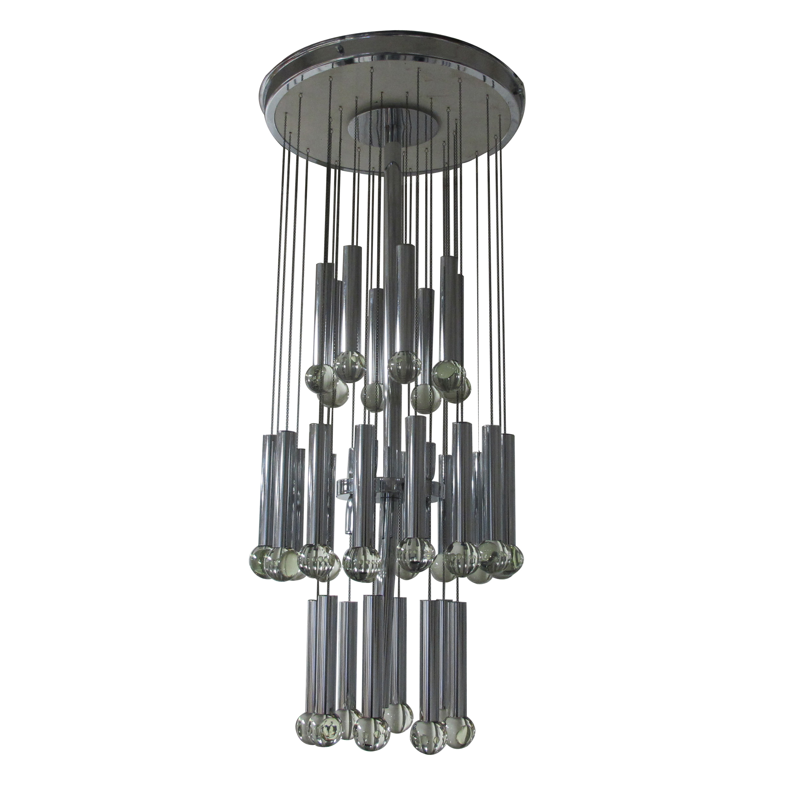 Chrome and glass sciolari chandelier les trois garons chrome and glass sciolari chandelier aloadofball Image collections