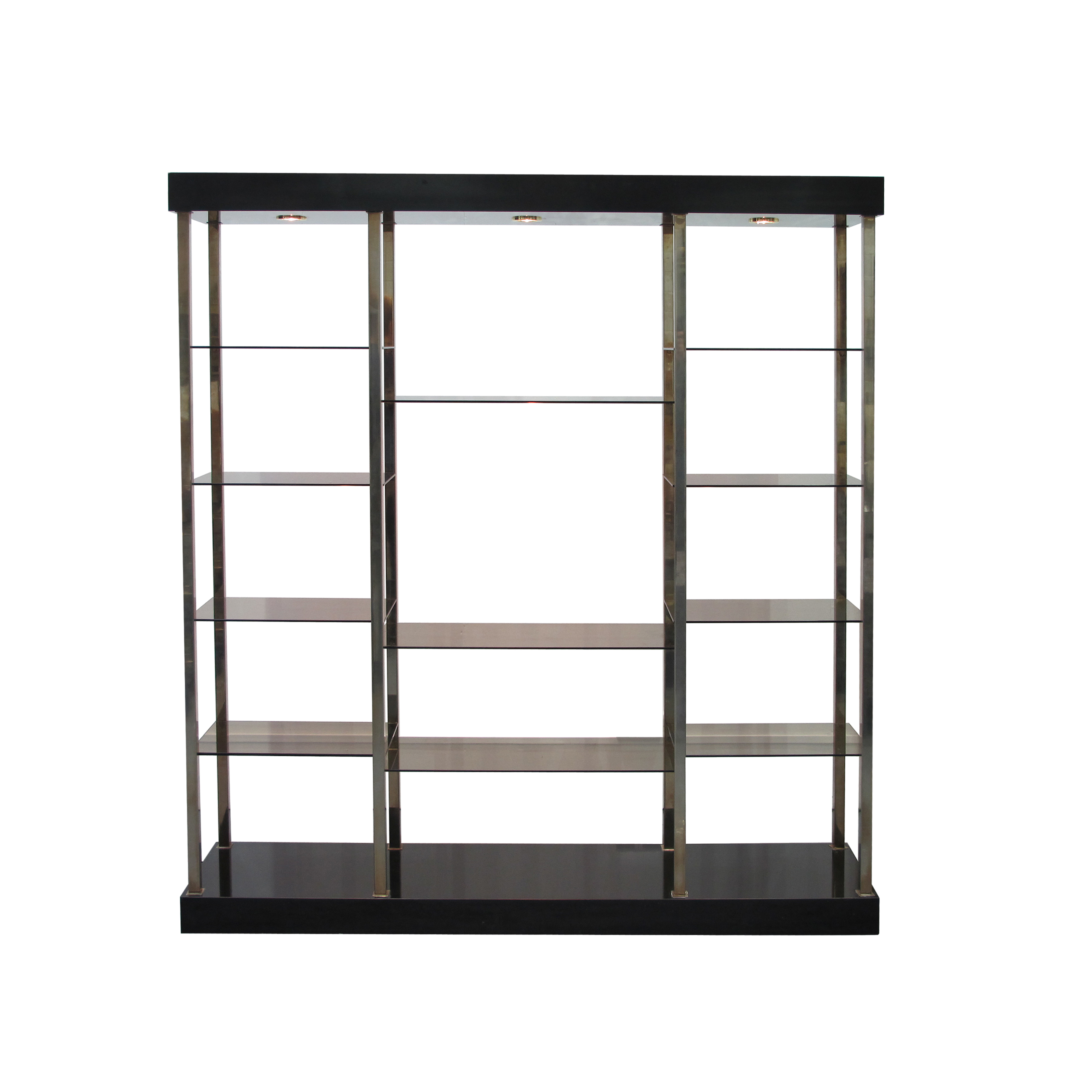 chrome and glass shelving unit perfect shelf in w x in h. Black Bedroom Furniture Sets. Home Design Ideas