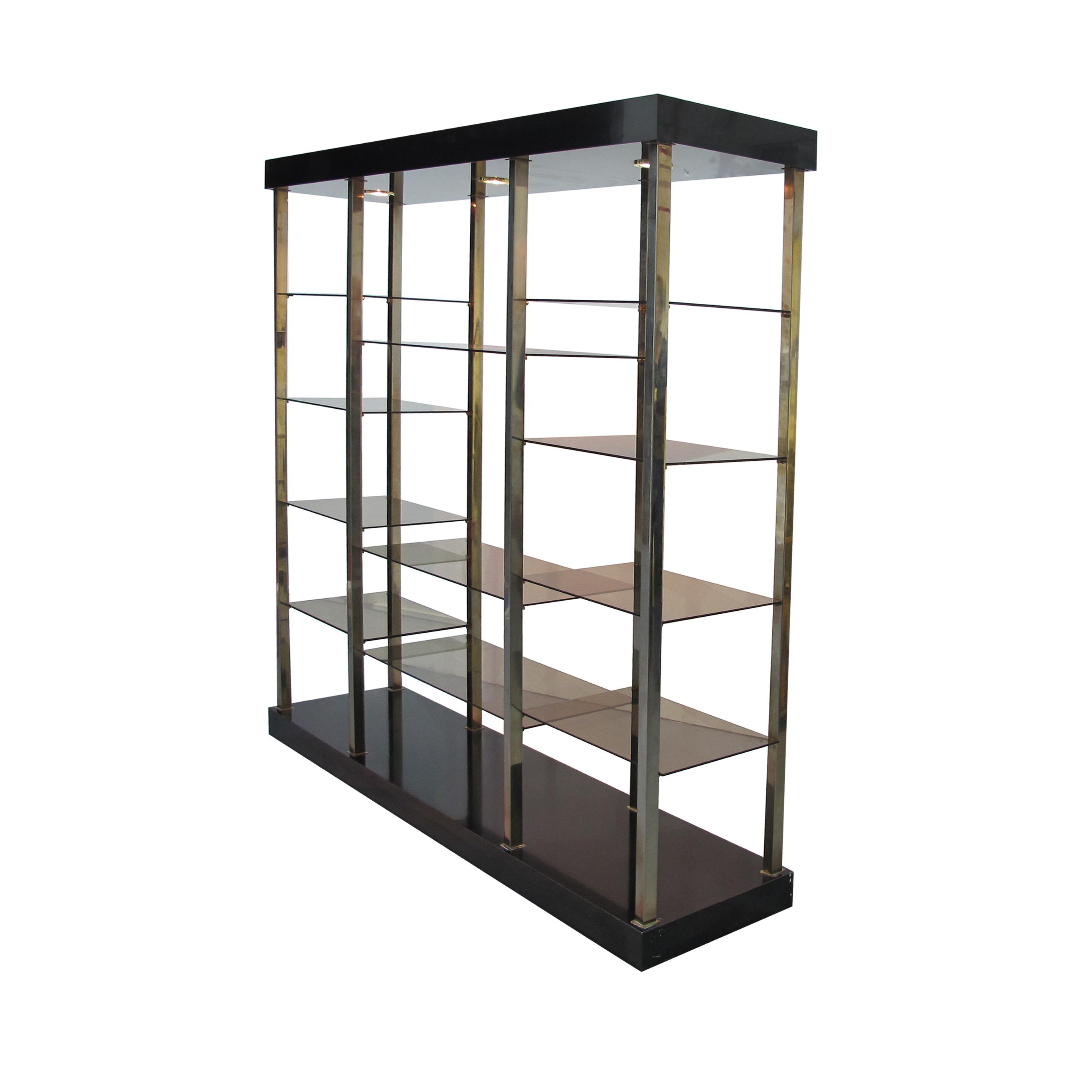 chrome and glass shelving unit interesting chrome steel. Black Bedroom Furniture Sets. Home Design Ideas