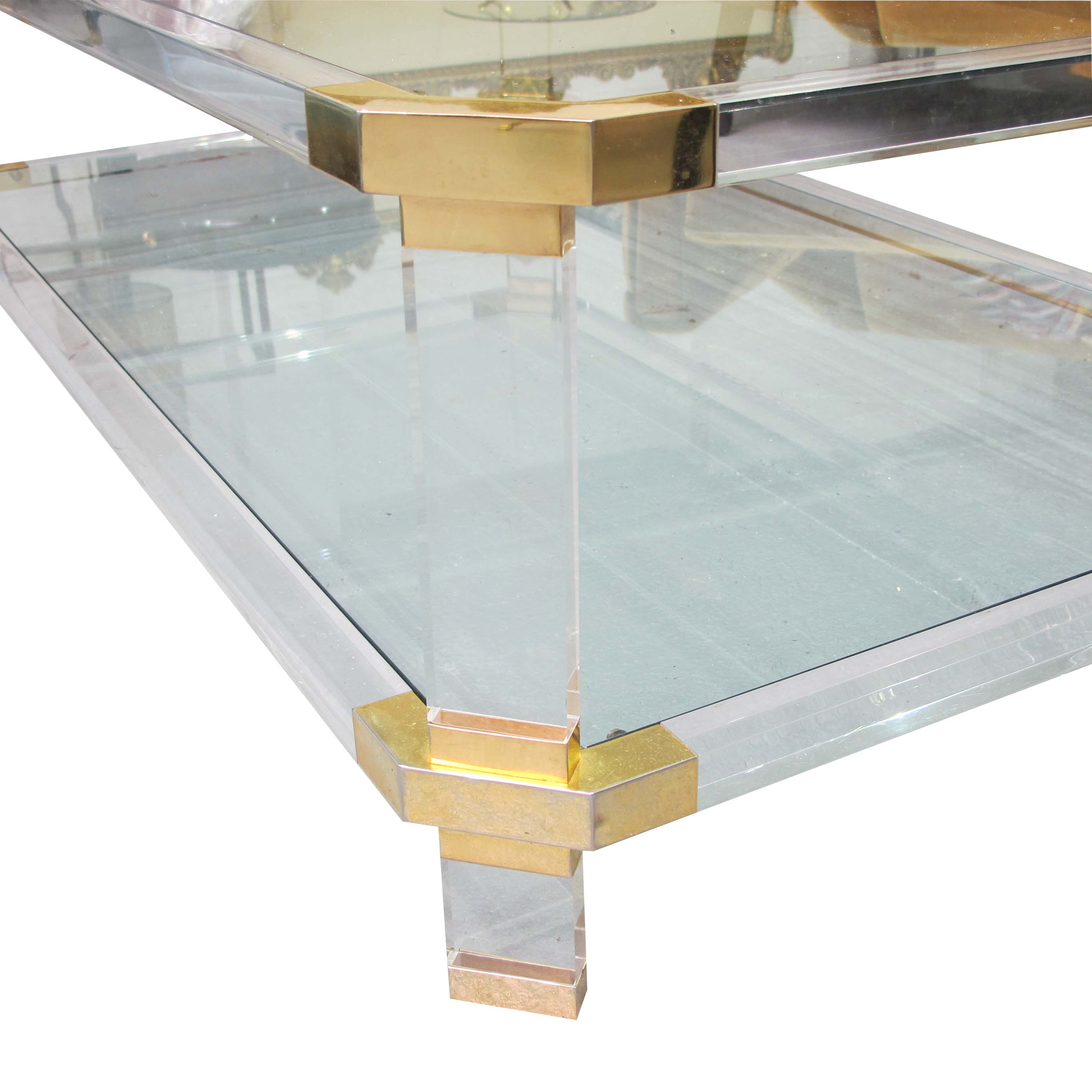Rectangular Perspex Coffee Table