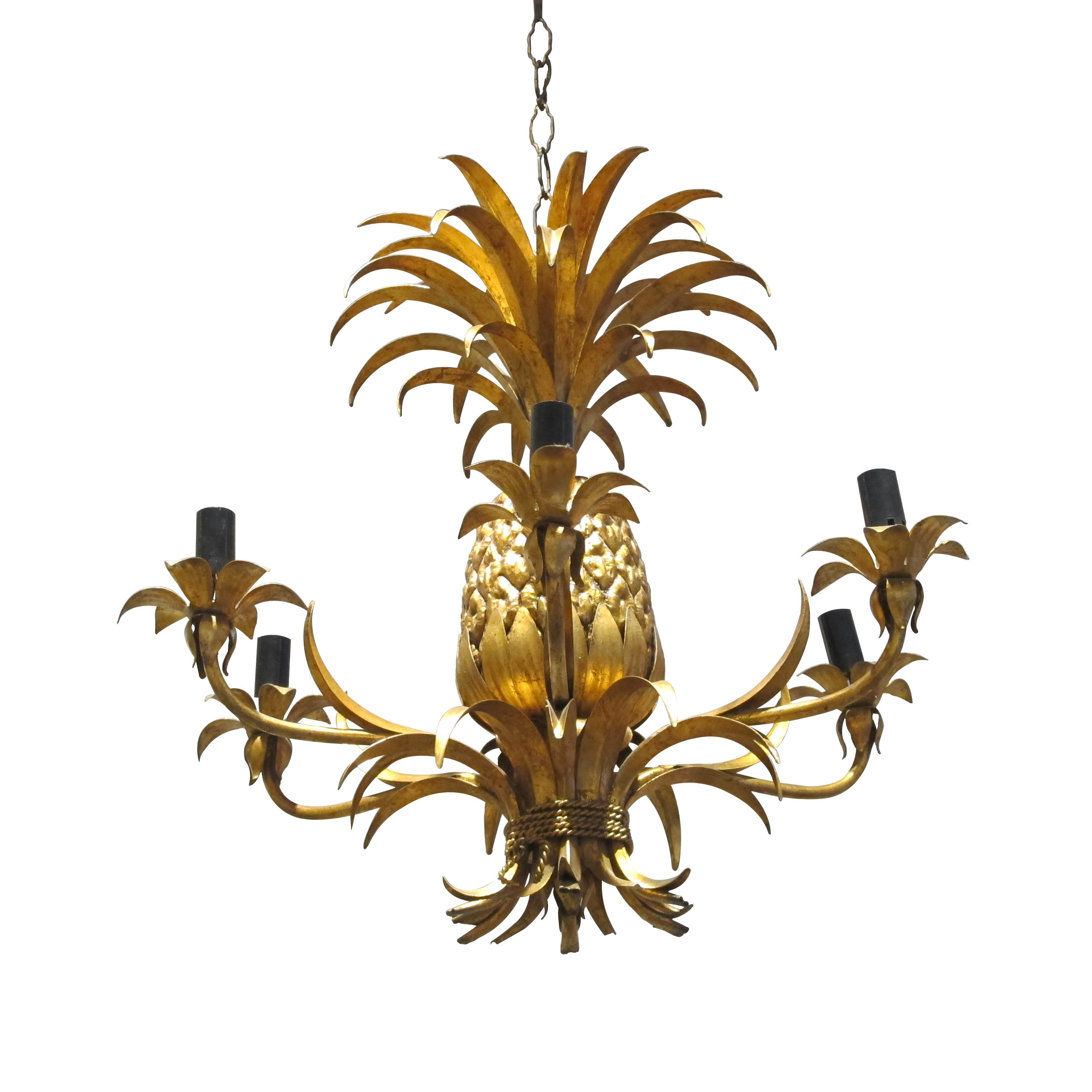 gold Italian Pineapple chandelier Les Trois Garcons Interiors